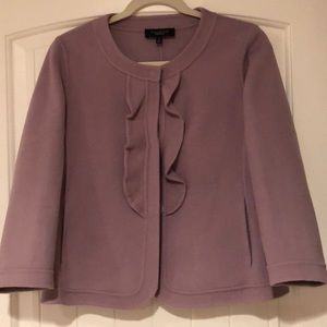Double faced wool ruffled lavender jacket!